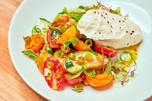 Tomato & Pickled Green Salad